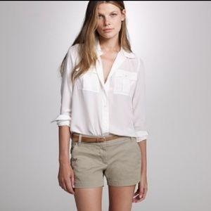 J. CREW CHINO Shorts Size 8 Tan Style 82043
